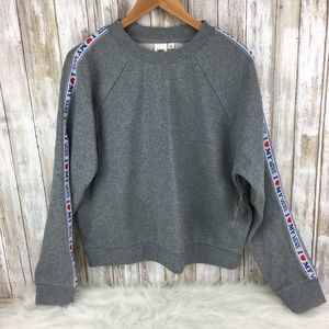 NWT Vans Cropped Sweatshirt Crew L spell out